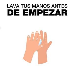 Lava tus manos antes de empezar