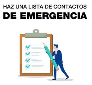 Lista de contactos de emergencia