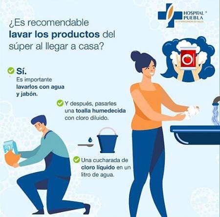 Recomendaciones lavado de productos